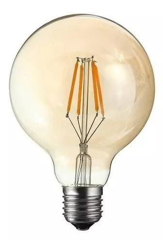Lâmpada Filamento Led G125 Retrô