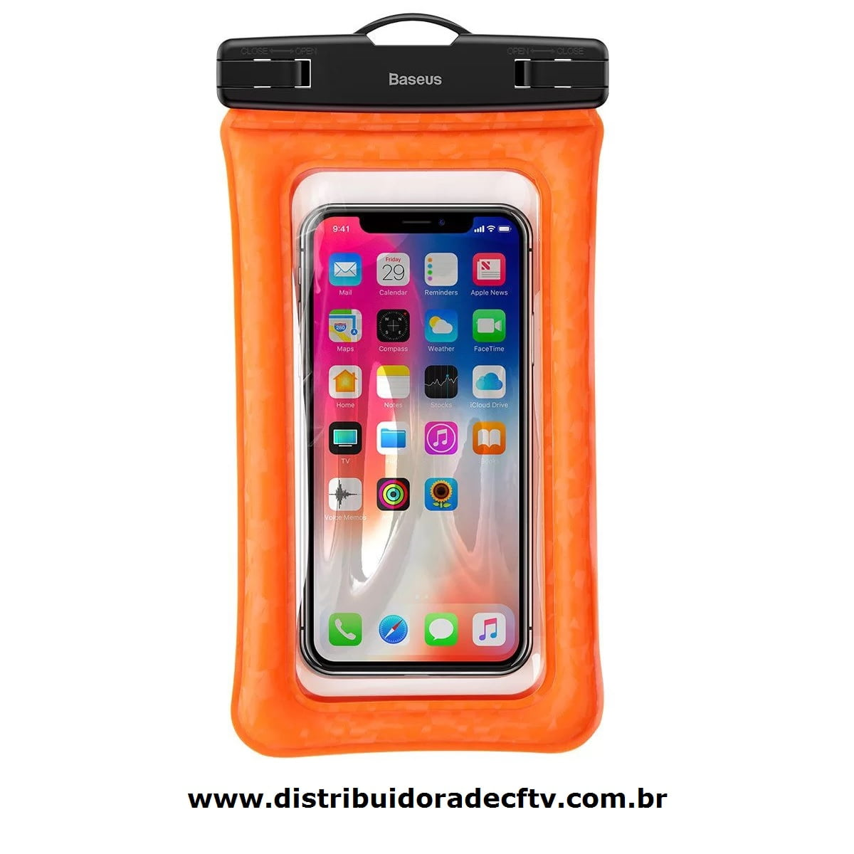 Capa para celular A Prova D'Agua Baseus Air Cushion Laranja