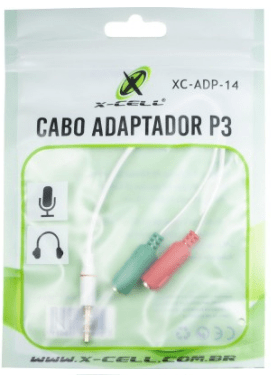 CABO ADAPTADOR P2- P3 XCELL XC-ADP-14