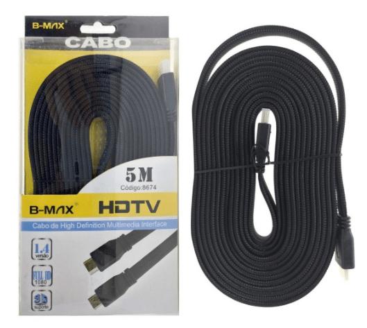 CABO HDMI B-MAX 5 METROS BM-8674 V1.4 4K 2K FULL HD 3D 1080P