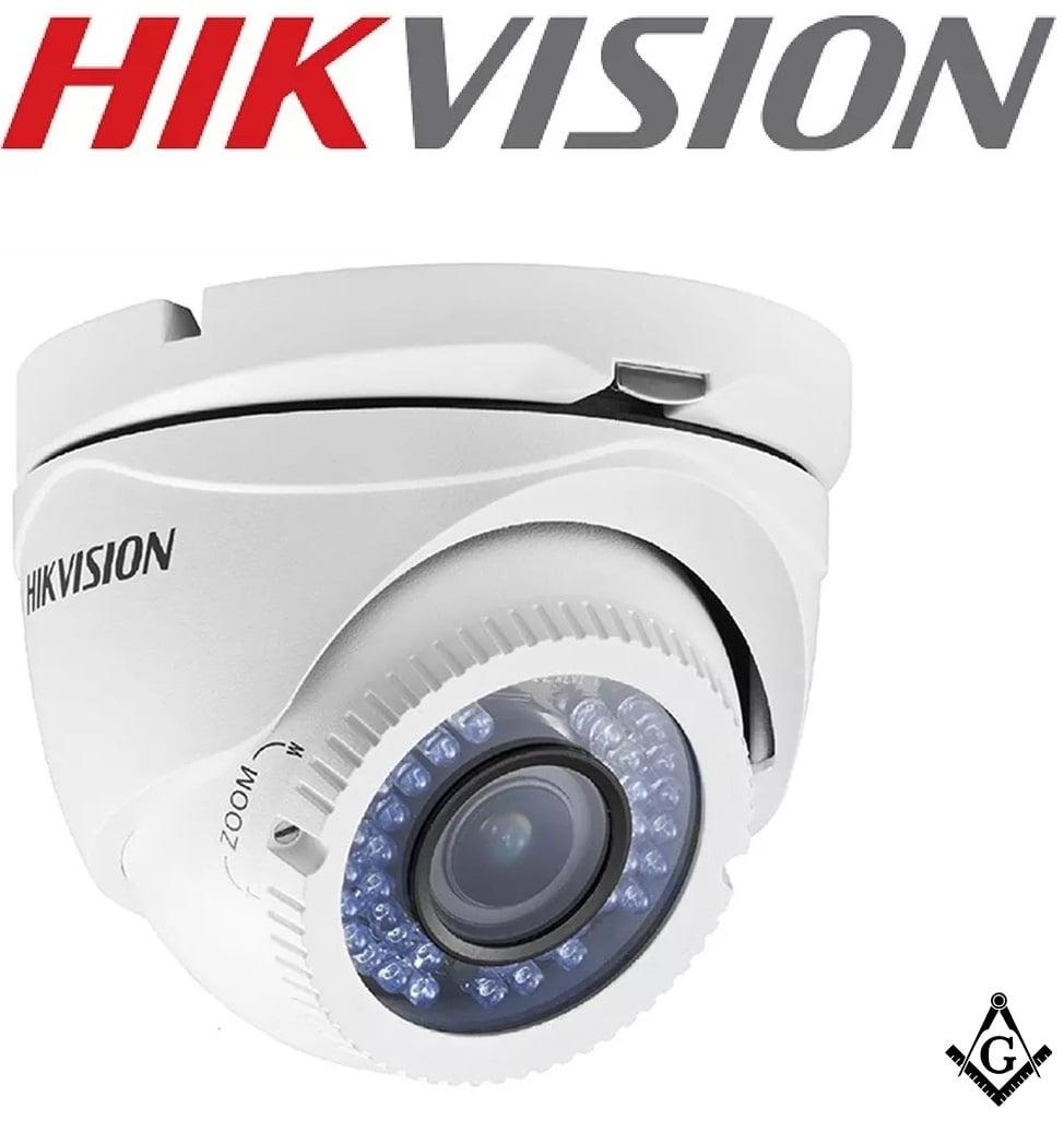Camera Hikvision dome DS-2CE56D0T-VFIR3E Varifocal (2.8-12mm) Hd Tvi Ir Ate 40m -2 Mega