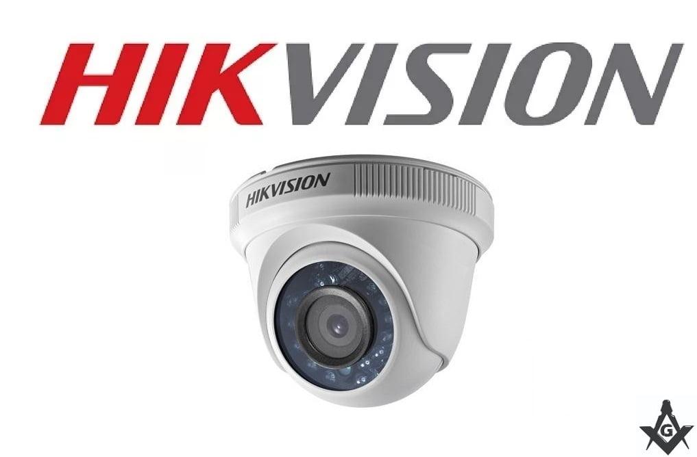 Câmera Hikvision DS-2CE56D0T-IRM de segurança infra vermelho dome 1080P 20 Metros lente 2.8mm