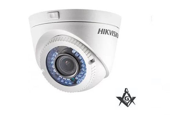 Camera Hikvision Ds-2ce16c2t-vfir3(2.8-12mm) Dome Hd Tvi Ir Ate 40m -1.3 Mega Lente 2.8-12mm