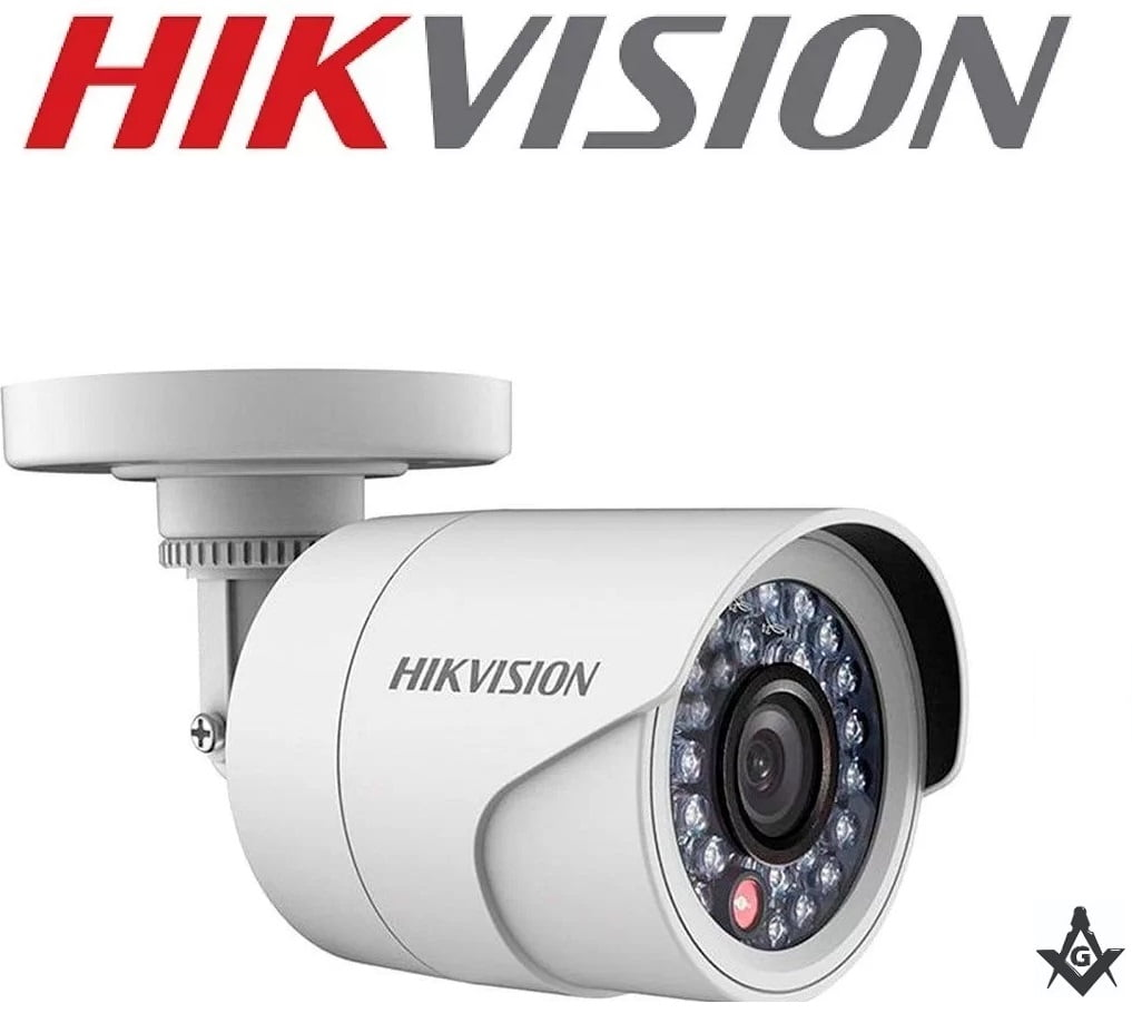 Câmera de segurança e infra vermelho Hikvision DS-2CE16DOT-IRPF 2MP Full HD 1080p Turbo HD Bullet 20 metros lente 2.8mm