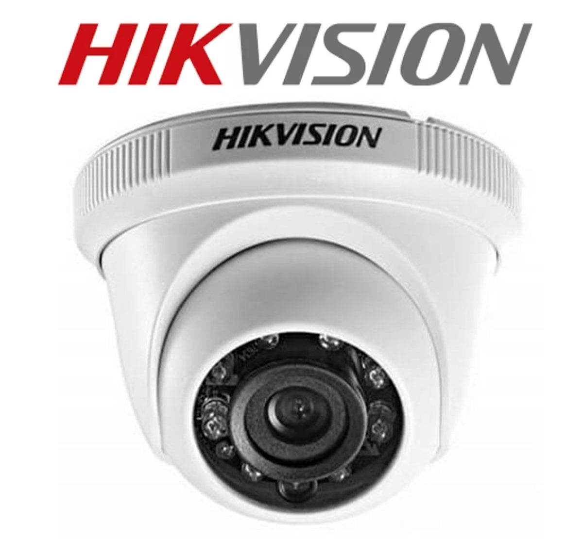 Câmera de segurança infra vermelho dome hikvision ds-2ce56cot-irpf lente de 2.8mm  4 em 1 tvi/ahd/cvi/cvbs