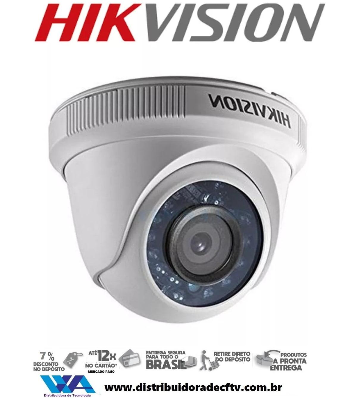 Câmera Hikvision Ds-2ce5ac0t-irp de segurança infra vermelho dome 1 megapixel Lente 2.8mm