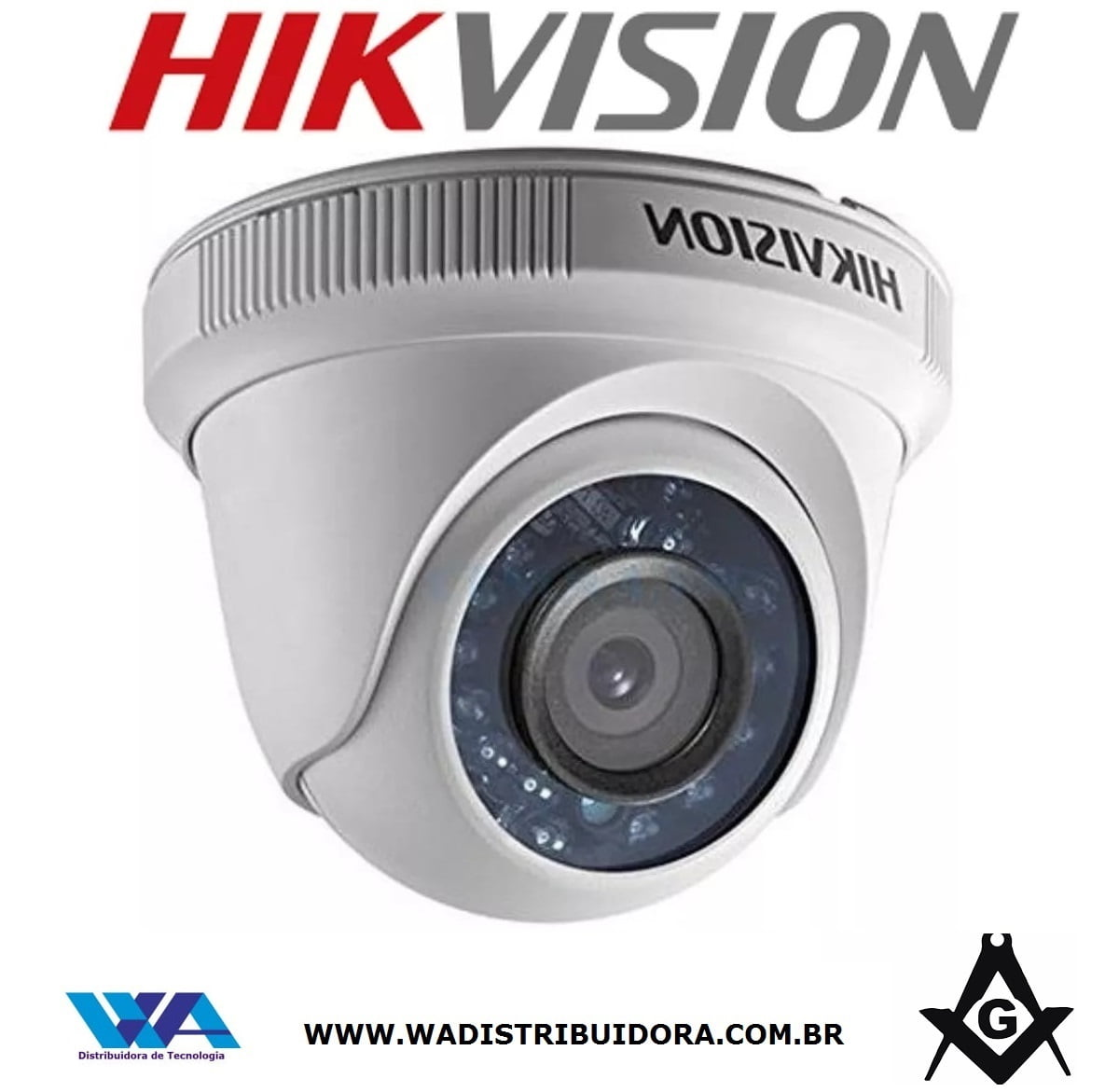 Câmera de segurança dome infra 15mts full hd 1080P Lente 2,8mm icr smartr Hikvision Ds-2ce5ad0t-irp