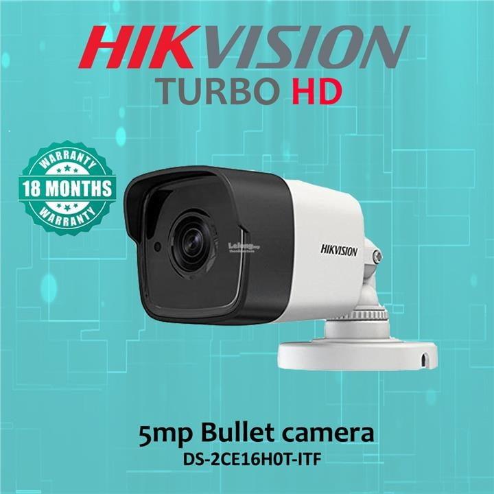 Câmera Hikvision bullet DS-2CE16H0T-ITF 5 MP, OSD menu, 2D DNR, DWDR, lente 3,6mm