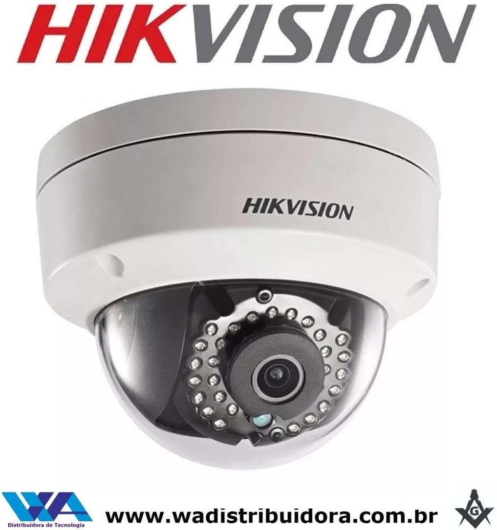 Câmera Ip Dome infra 30mts antivandalismo 1 megapixel  icr, h.264, dwdr, 3d dnr lente 2.8 1mp 1/4 Hikvision Ds-2cd1101-i