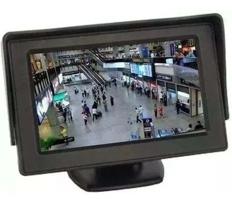 Mini Monitor 4.3 Knup - KP-CA401 Tela Automotiva Lcd Dvd Cam Ré