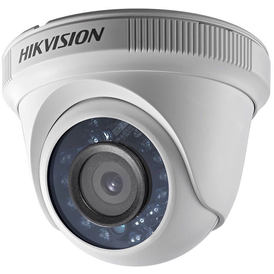 Câmera Hikvision DS-2CE56DOT-IRPF 2MP Full HD 1080p Turbo HD Dome 20 metros