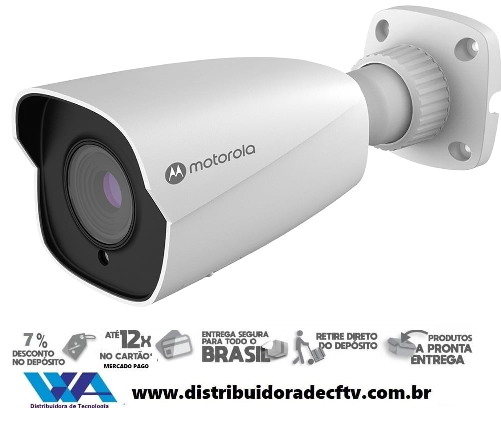 Câmera Ip de segurança e cftv bullet varifocal Motorola 5MP MTIBM055711