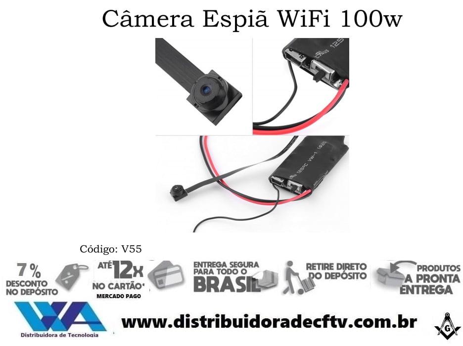 Mini Câmera ip wi-fi espiã 100W V55 1080P