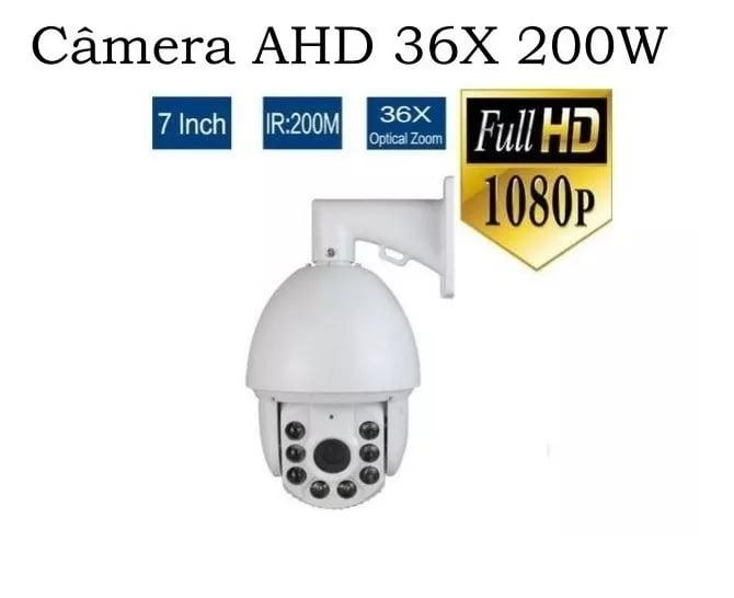 Câmera Speed Dome Profissional 36x Infra Vermelho 1.3mp