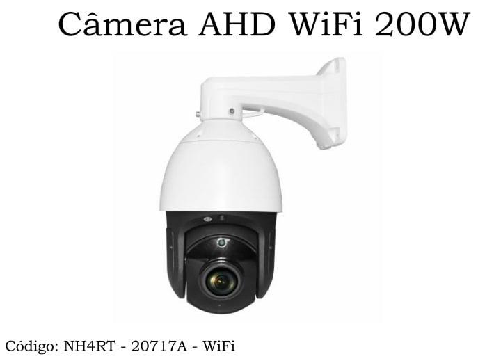 Câmera Speed Dome Wifi Ir 200m Fullhd 2mp Zoom Óptico