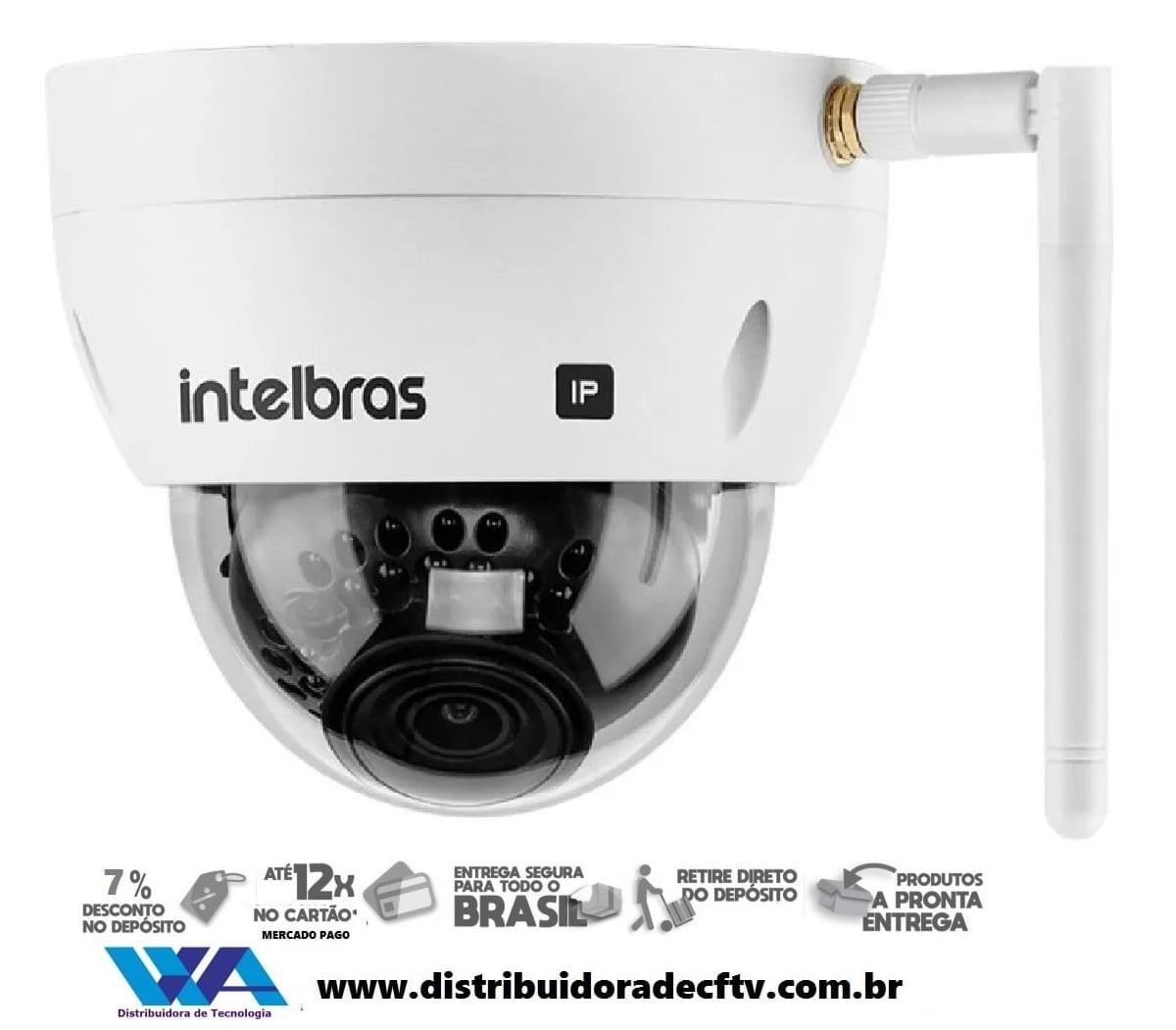 Câmera de segurança IP Intelbras WiFi Full HD VIP 3430 D W 4MP