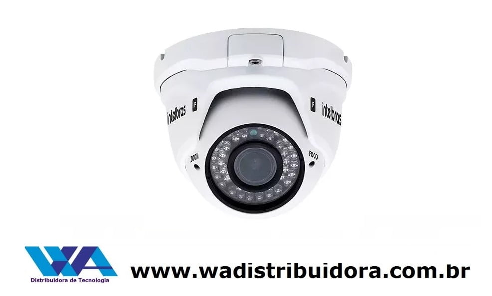 Câmera ip de segurança dome de 1megapixel infra 30 mts varifocal 2.8 - 12mm intelbras VIP 1130 D VF G2