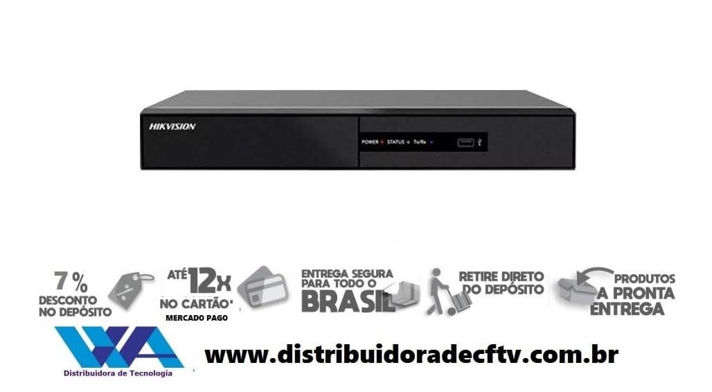 Nvr Hikvision Ds-7108ni-q1/8p/m 08 Canais 1080p