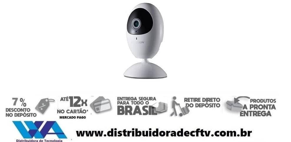 Câmera ip de segurança e cftv WiFi Hikvision HD DS-2CV2U01EFD-IW IR 10m 720p