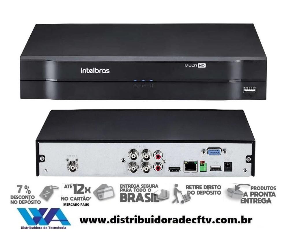DVR Stand Alone para cftv e segurança Multi HD Intelbras MHDX-1104 - 4 Canais 1080p Lite + 1 Canal 2mp IP