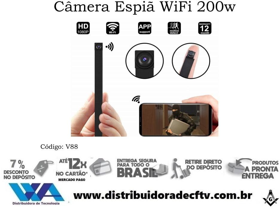 Mini Câmera ip wi-fi espiã 200w V88