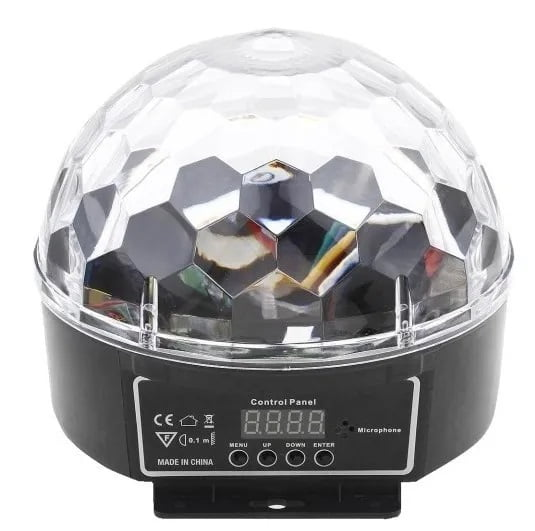 Bola Maluca Led 9 Cores 27w Rgb Dmx Ritmico Cristal