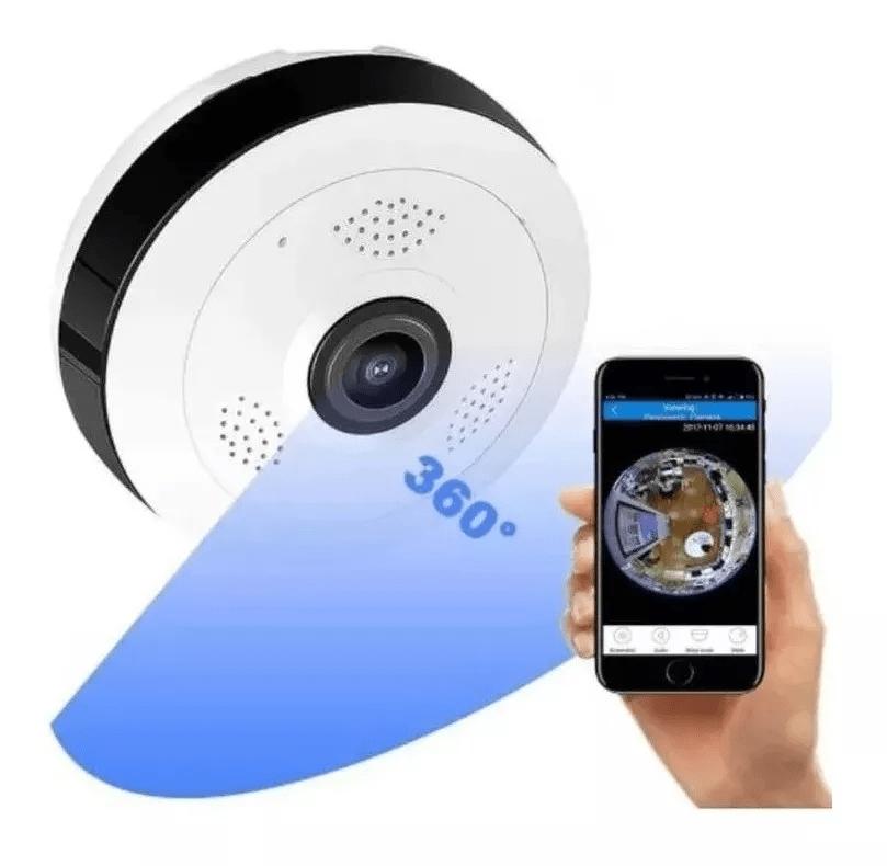 Camera Ip Seguraca Infravermelho Espiã Panoramica De Teto!