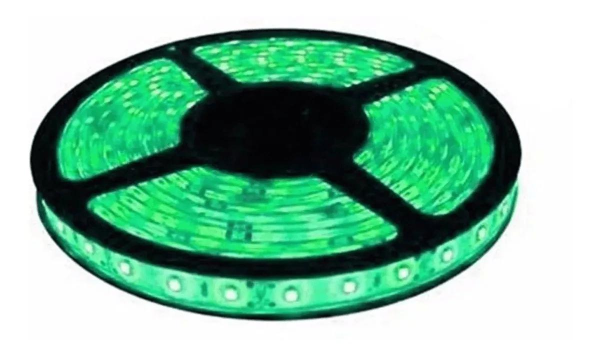 Fita Super Led 5050 verde 300 Leds 5m com silicone a prova de água