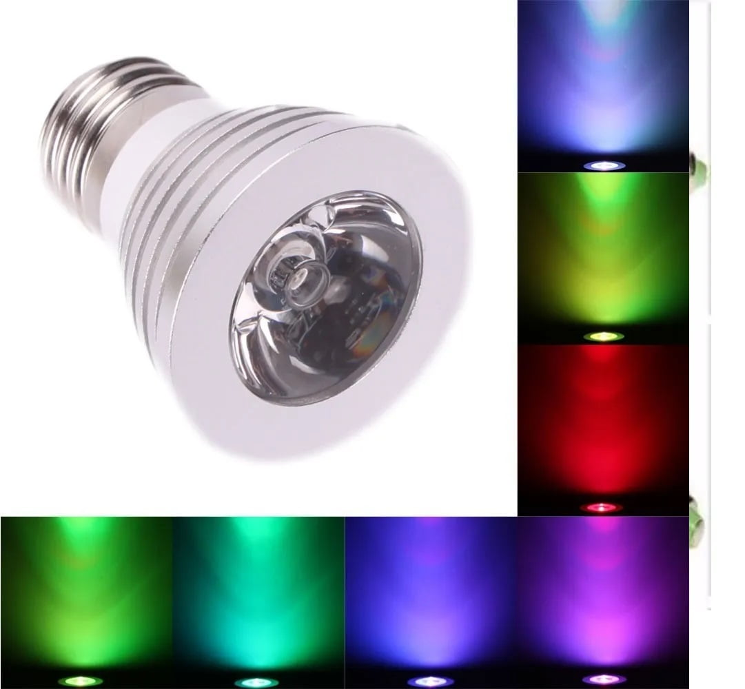 Lampada Led 110/220v 16 Cores Mutável Rgb Bulbo Spotligh