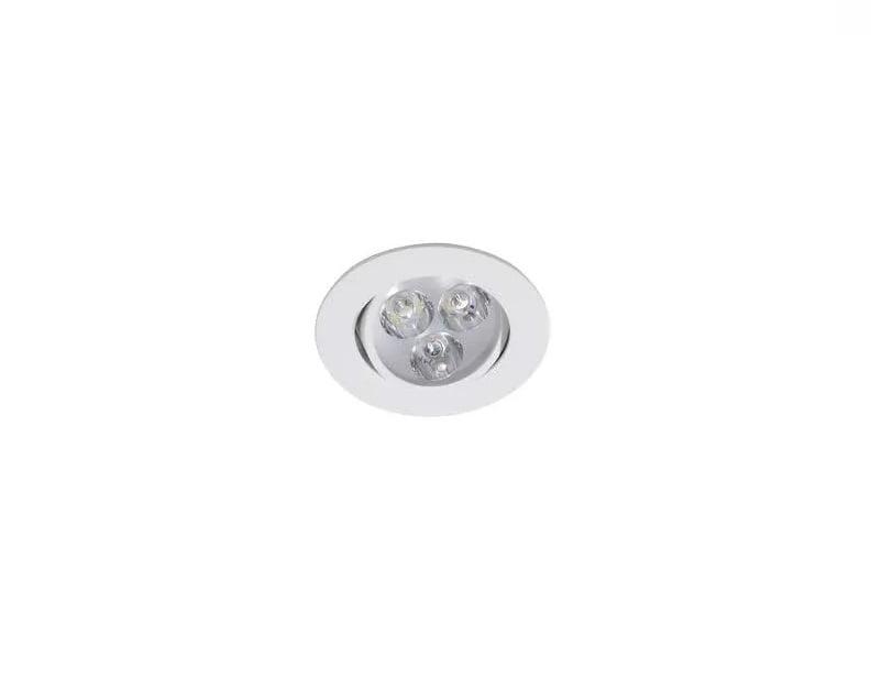 Luminárias de Teto Spot Super LED 3W Branco Frio Redonda Direcionável