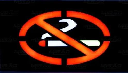 Painel de Led Proibido Fumar com Efeito Neon Bivolt - MPL-6619