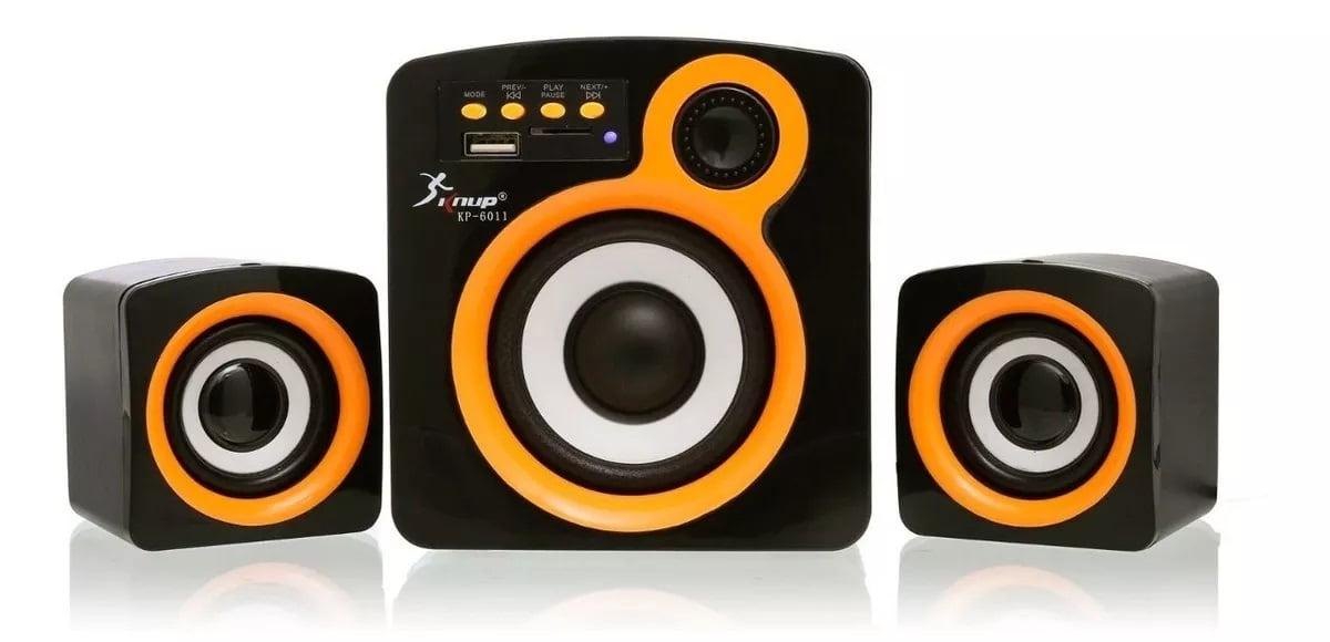 Caixa De Som 2.1 Knup Kp-6011 Bluetooth