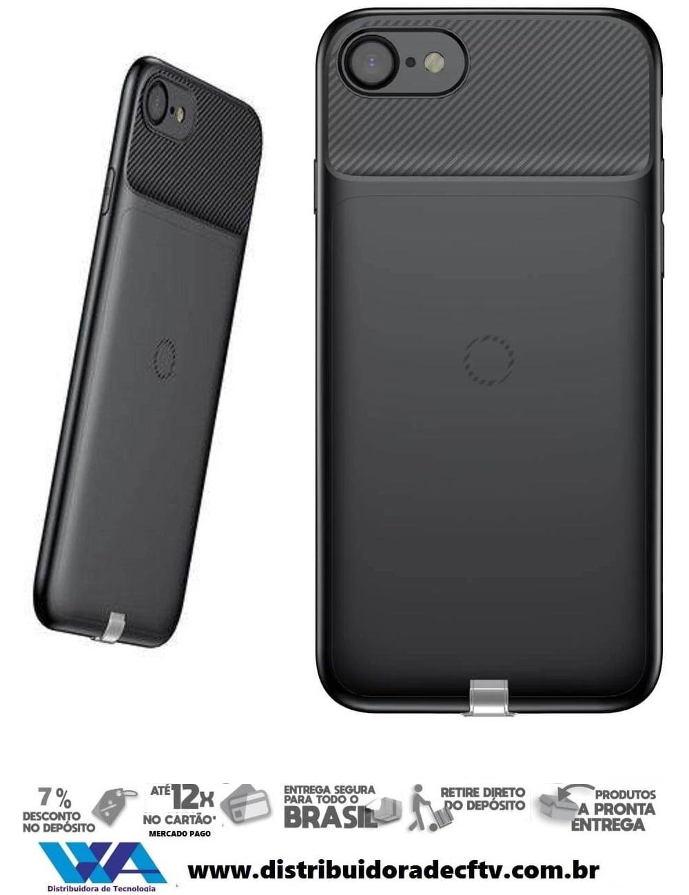 Capa para Carregamento Sem Fio Baseus Wireless Iphone 7 Plus Preto