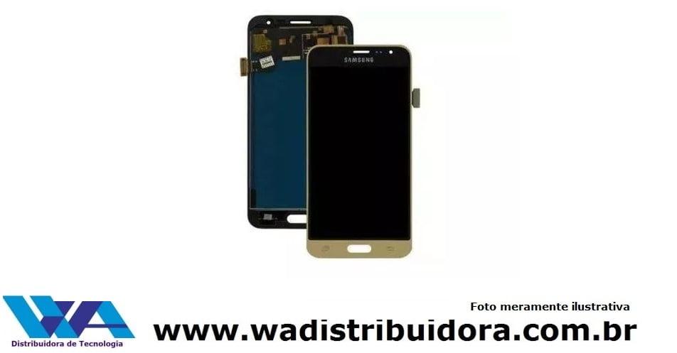 Tela Touch Display Frontal Samsung J3 J320 Dourado