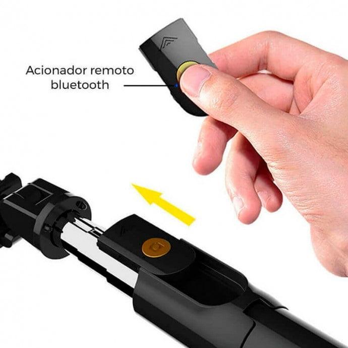 Bastão Selfie Bluetooth com Tripé - MZP-110