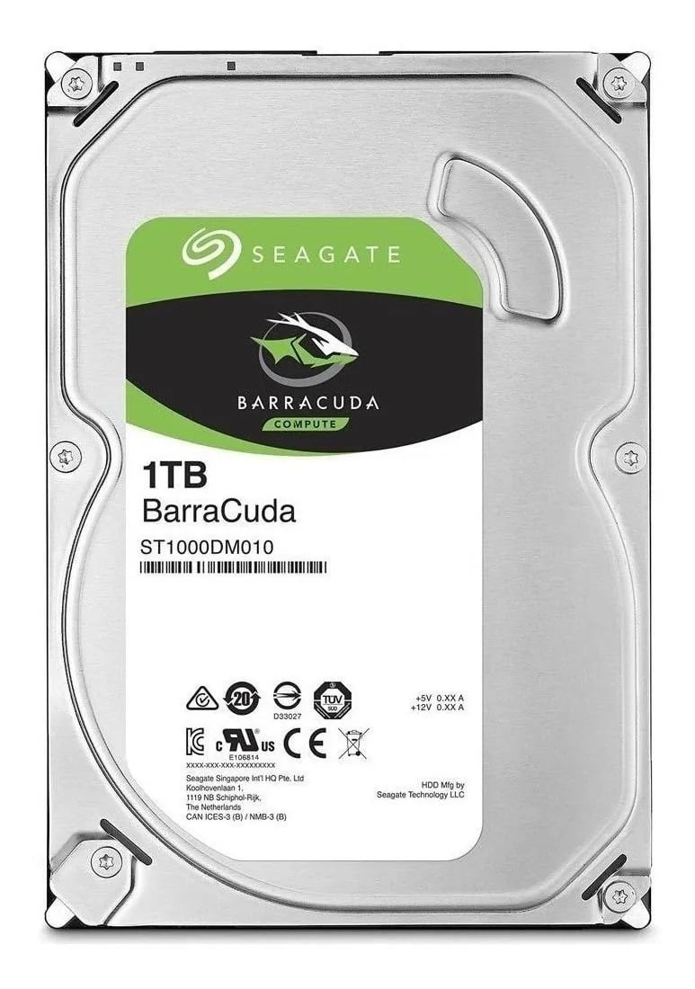 Disco rígido interno Seagate BarraCuda 3.5 1TB