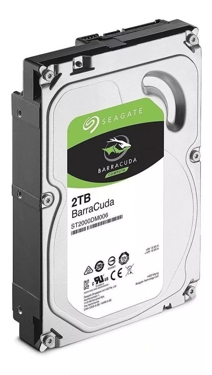 Disco rígido interno Seagate BarraCuda 3.5 2TB