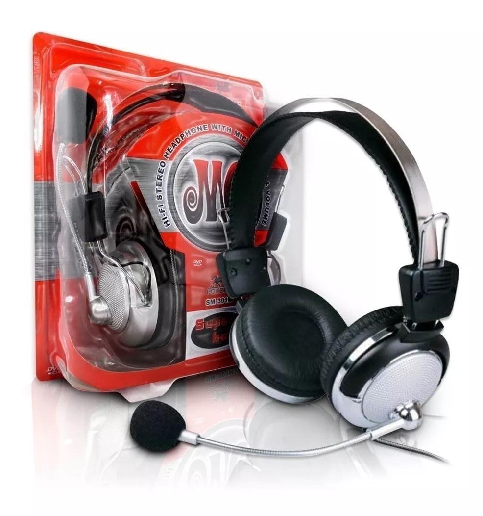 Fone De Ouvido Red Set Headphone Huanle Hl-301mv Microfone