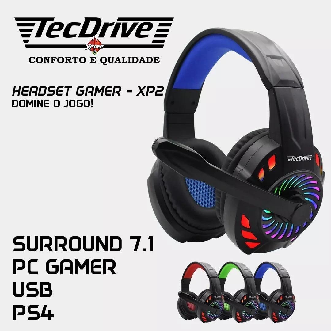 Fone Headseat Gaming Pc Ps4 Usb 7.1 Virtual Xp2