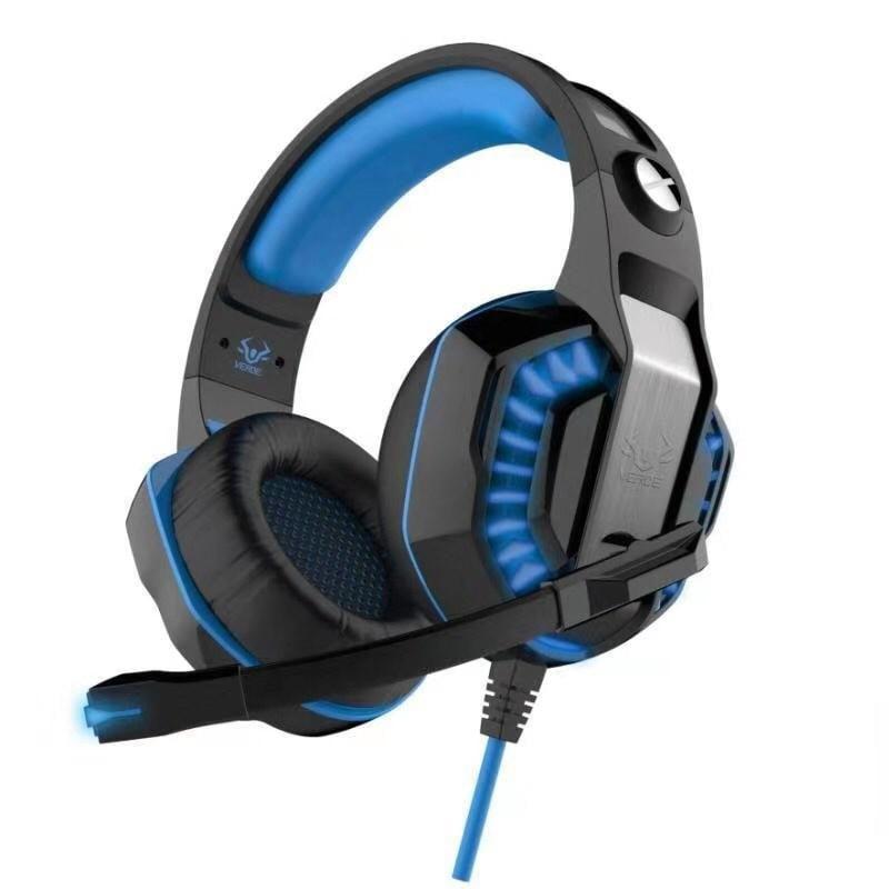 Fone de Ouvido Headset Gamer Azul para Ej 902 para Pc - Ps3 - Ps4 - Xbox One - Switch e Celular