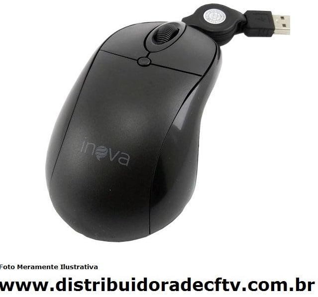 Mouse Óptico Inova com conexão USB MOU-8370