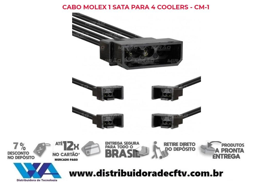 Cabo Molex 1 Sata para 4 Coolers - CM-14