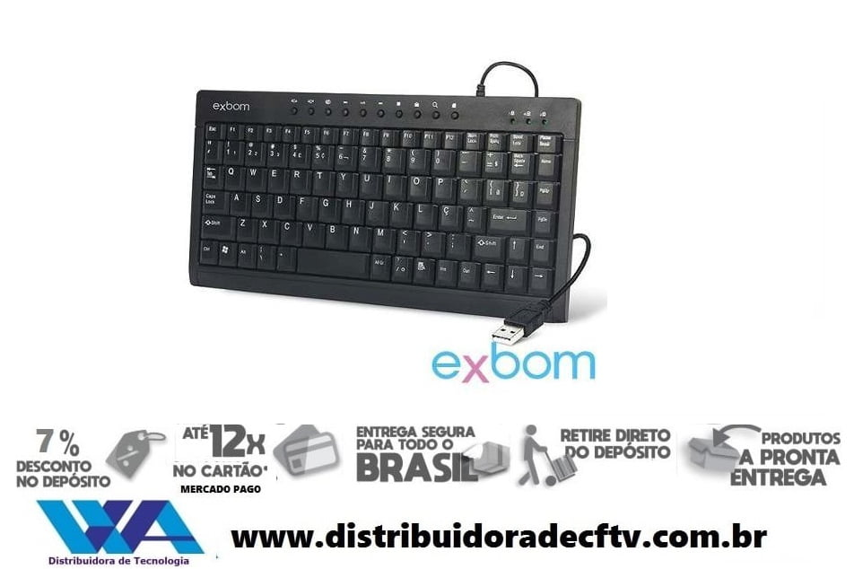 TECLADO USB MINI BK-M57 MULTIMIDIA EXBOM