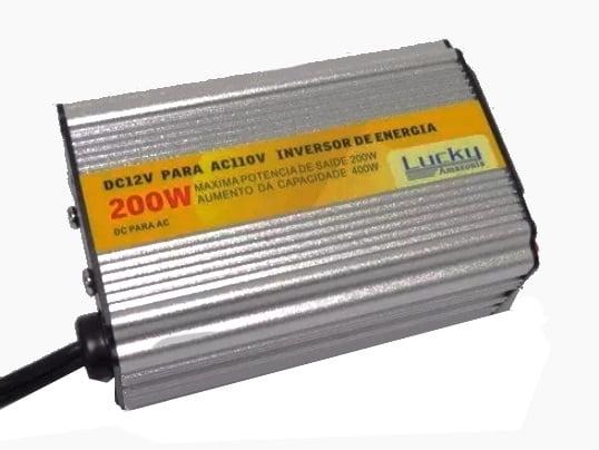 Inversor de voltagem Energia 200W 12vdc 110v 60Hz