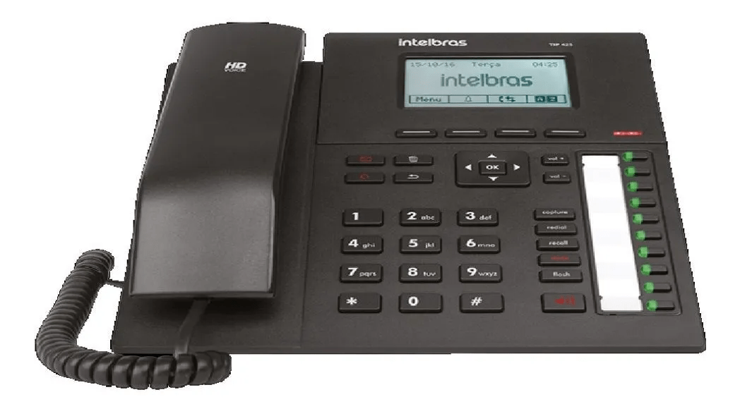 Telefone Ip Voip Com Display Gráfico Tip Intelbras 425