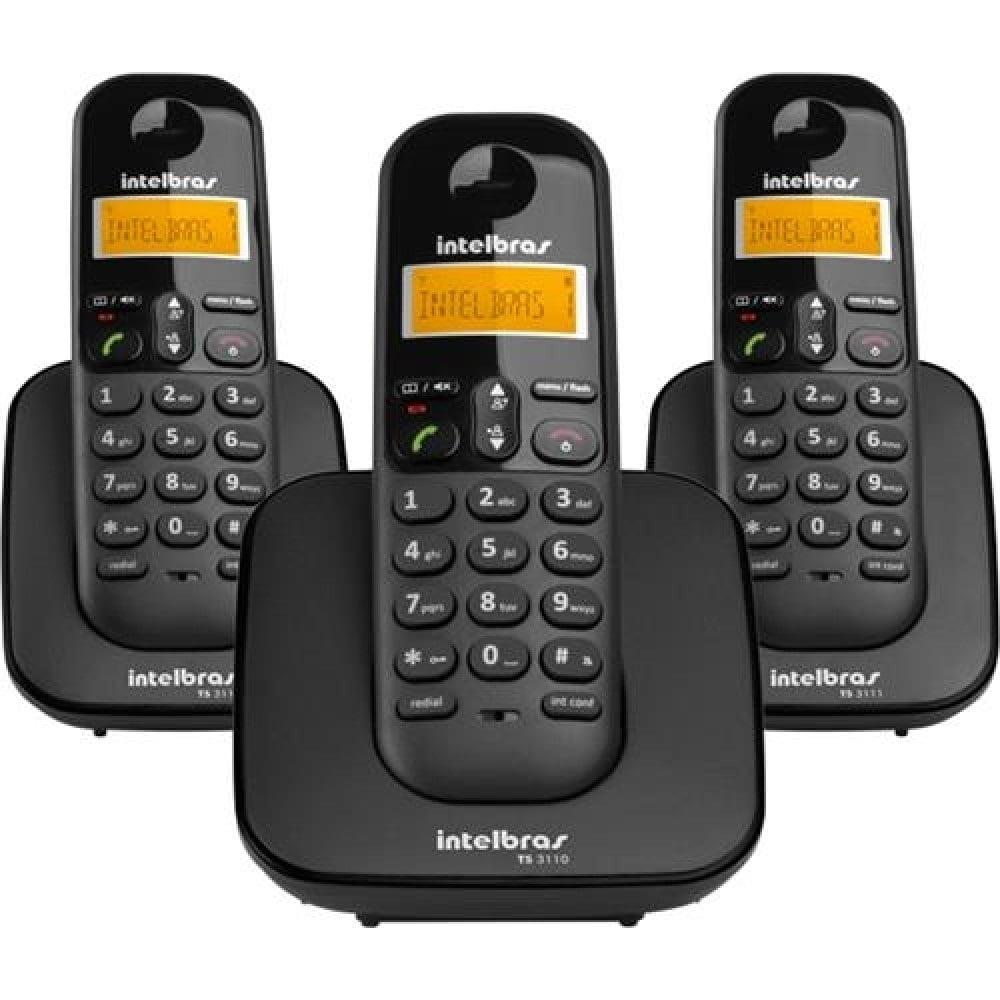 Telefone Sem Fio Intelbras Ts 3113 + 2 Ramais - Sts