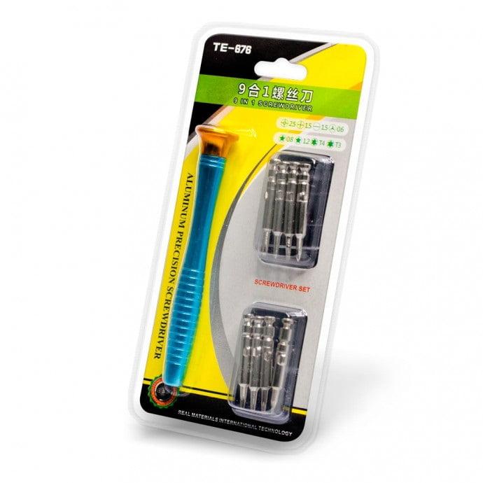 Conjunto de Chave de Fenda 8 Em 1 para Conserto de Smartphones - Klte-676