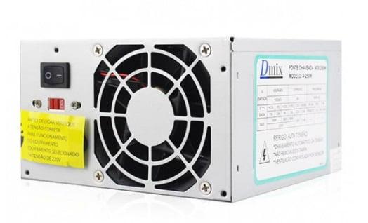 FONTE ATX 250W DMIX SATA 2 NOVA 24 PINOS DM250C COM CAIXA