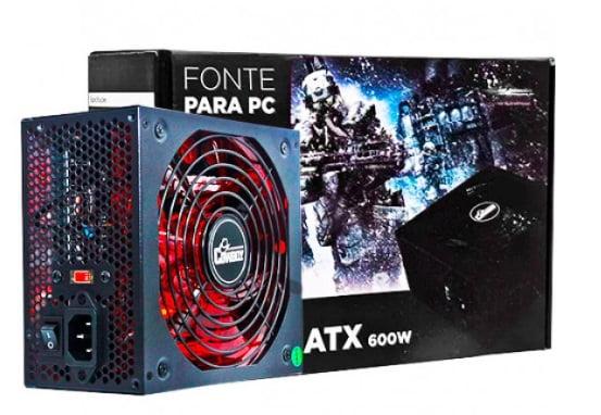 FONTE ATX GAMER COM CONEXÃO SATA 600W - KP-535