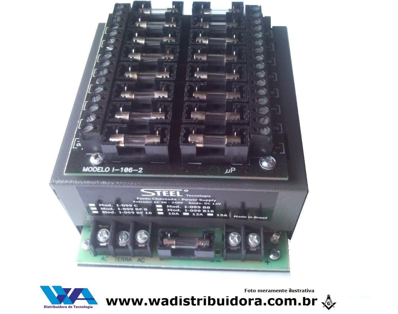 Fonte de Alimentação chaveada para segurança especial 12 volts 15 amper  steel i-099bf